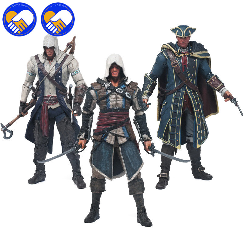 ASSASSINS NECA ASSASSINS CREEDS IV 4 BLACK FLAG EDWARD KENWAY KANGNA PVC ACTION FIGURE TOY 15CM 4 STYLES BEST GIFTS FOR COLLECT