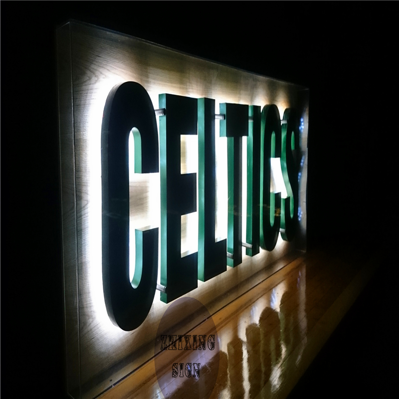 Factory Outlet Outdoor Metal Backlit Led Letters Sign For Building