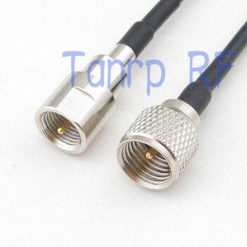 50 CM Zopf koaxial überbrückungskabel RG174 verlängerungskabel 20in mini UHF stecker auf FME stecker hf-anschluss adapter
