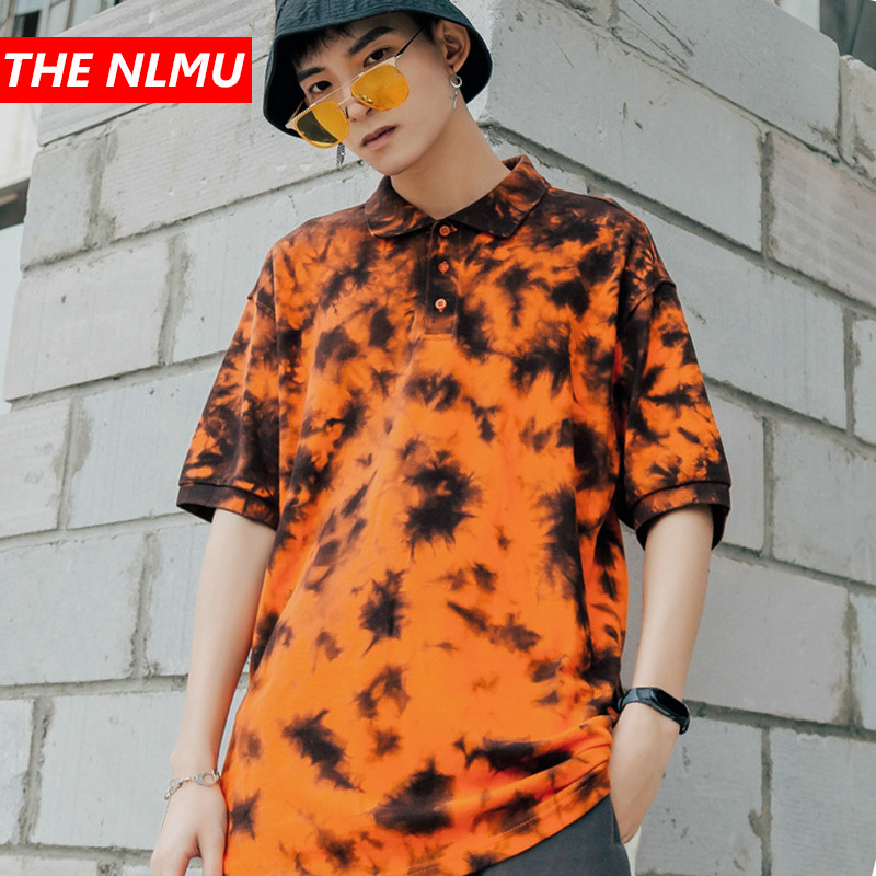 2019 Harajuku New Men's   Polo   Shirt Brand Men Fashion Printed   Polo   Shirts Summer Casual Cotton Top Tees Hip Hop Streetwear WE404