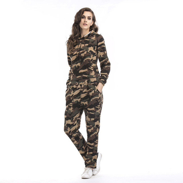 10bba09aac8a two piece set top and pants tracksuit women matching sets camouflage sweat  suits hoodies autumn outfits