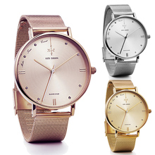 NICK CABANA Luxury Brand Rose Gold Silver Women Watches Leather Steel Quartz Wrist Watch relogio feminino Clock montre femme
