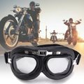 Motorcycle Biker Flying Chrome Goggle Helmet Glasses For Harley Protector Windproof Anti-UV ABS PC lens