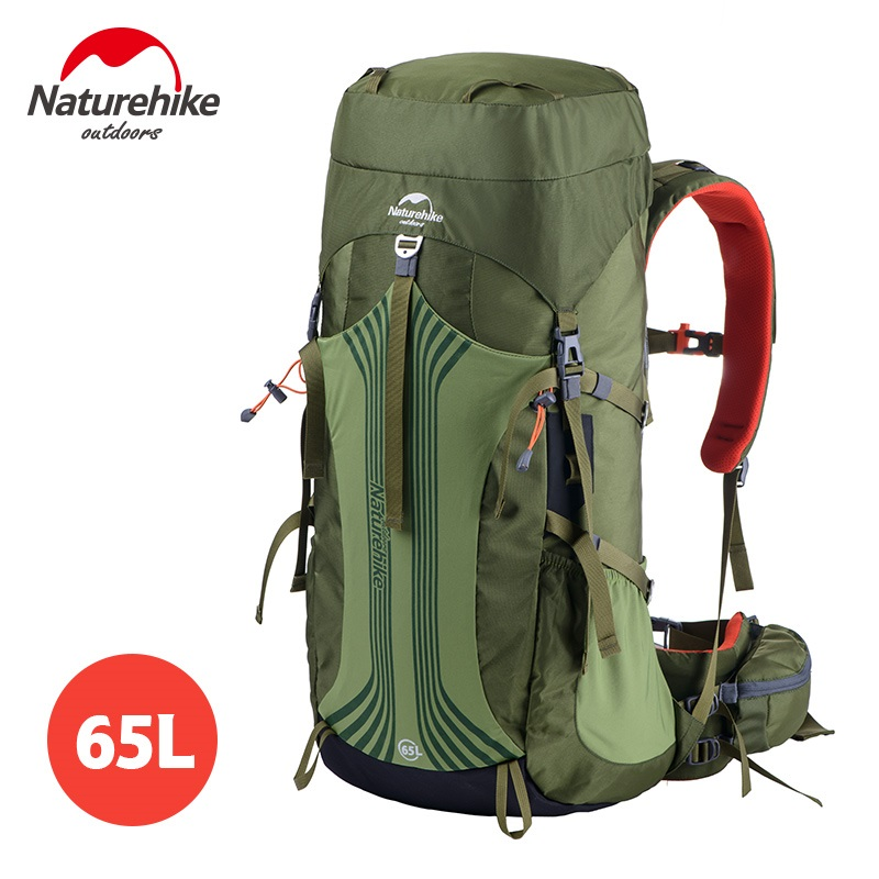 * Naturehike alta calidad al aire libre montañismo escalada mochila de gran capacidad 65 + 5L bolsa de escalada impermeable mochilas de senderismo
