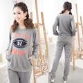 Autumn Dot print pregnant woman clothing+trousers Maternity long sleeve female Nursing Wear leisure sports 705B