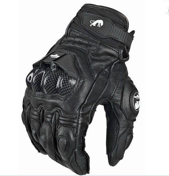 Carbon Leather full finger gloves racing motorcycle cycling Polyester fabric is protection shell glove