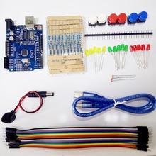 Стартовый Комплект ООН R3 мини Макет LED перемычка кнопка для Arduino