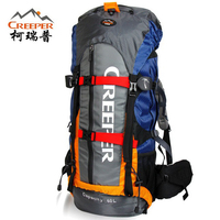 CREEPER Professional Waterproof Rucksack External Frame Climbing Camping Hiking Backpack Mountaineering Bag 60L