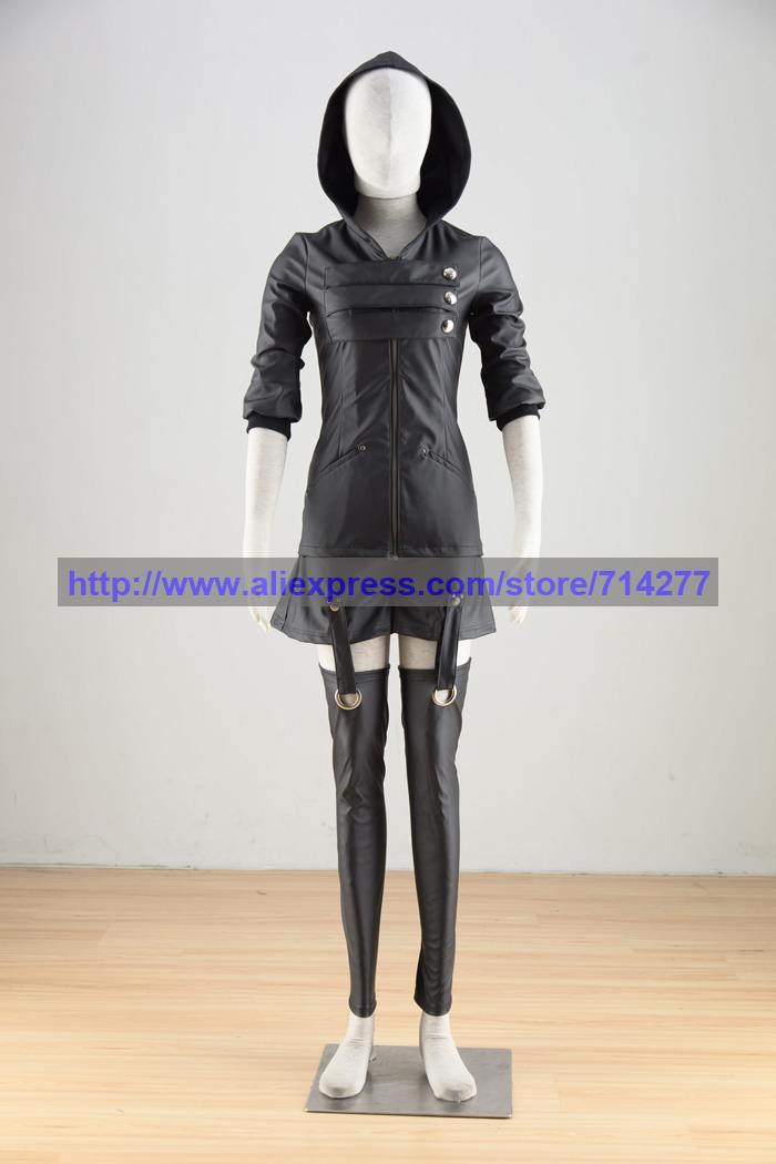 2016 Tokyo Ghoul Cosplay Touka Kirishima Costume Women's Dress Black Battle Suit Halloween Christmas Cosplay Costumes