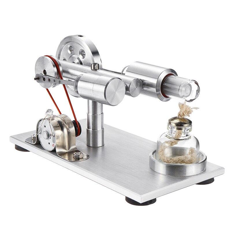 Bricolage Double-cylindre Air chaud Stirling moteur modèle avec lumière école démonstration jouet éducatif Science expérience Kit pour enfant