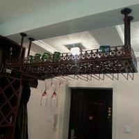 60*35CM Fashion Bar Red Wine Goblet Glass Hanger Holder Hanging Rack Shelf wall wine rack cup holder