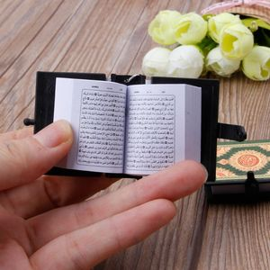 Image 2 - 1  PC Mini Ark Quran Book Real Paper Can Read Arabic The Koran Keychain Muslim Jewelry  Decoration  Gift