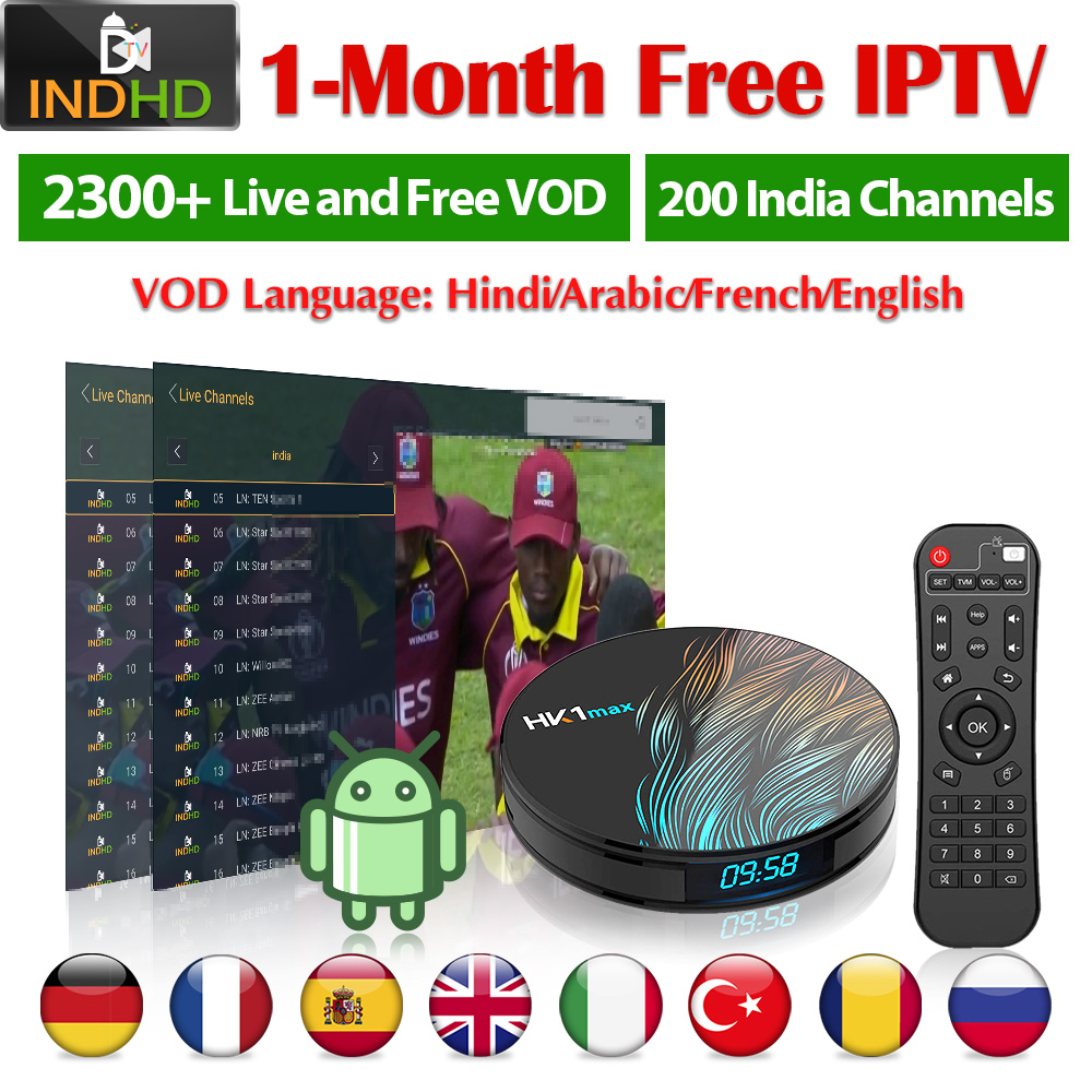 IPTV India Italy Africa IP TV Turkey Arabic HK1 Max Somalia 1 month Free IPTV Code Poland IPTV India Turkey Italy Pakistan IP TV-in Set-top Boxes from Consumer Electronics