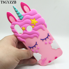 3D Cute Pink Unicorn Silicone Case For Huawei P20 Lite Mate 10 Phone Back Cover P8 P9 P10 Y5 II Y6 2017 Bag