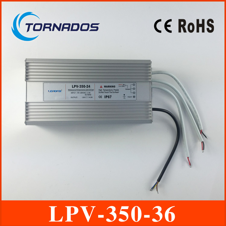350W LED driver 220v ac to dc 36v IP67 waterproof power supply led light transformer LPV-350-36 meanwell 24v 60w ul certificated lpv series ip67 waterproof power supply 90 264v ac to 24v dc