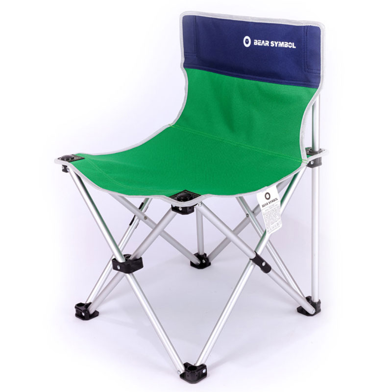 Large Armchair Portable Folding Chairs Fishing Stool Camping Beach Chairs 35X63X42CM Orange Blue 6063 Al 600D Oxford Chair
