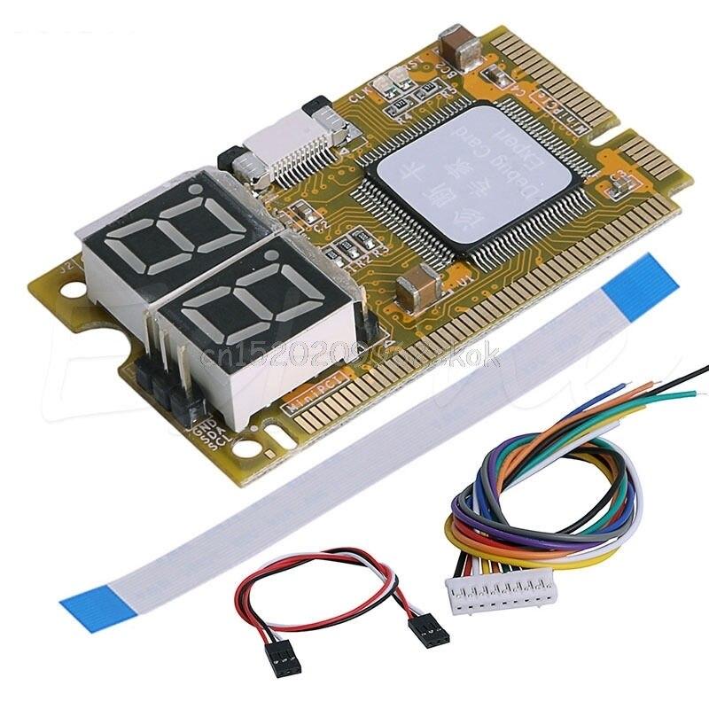 5 in1 Mini PCI PCI-E LPC I2C ELPC Debug Card Diagnostic Analyzer Tester Set #H029#
