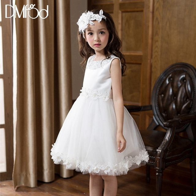 New Fashion Girl Dresses 2018 Summer Kids Evening Party Sweetheart