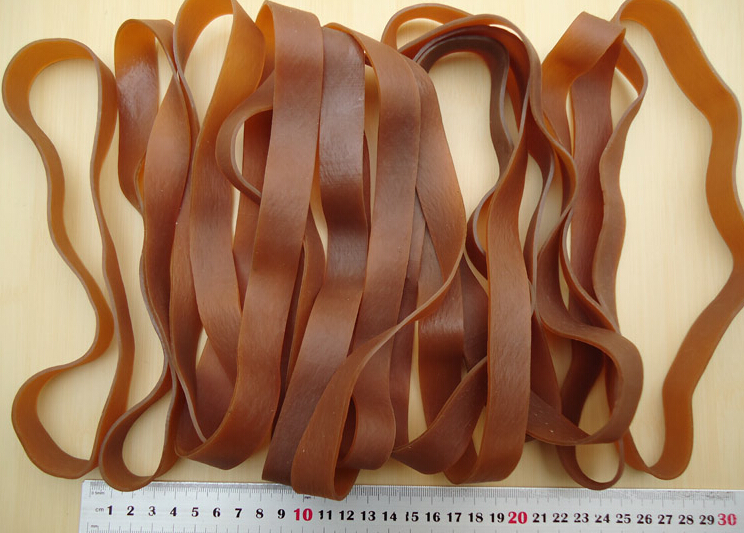 Wide 20mm Brown Elastic Rubber Band Heavy Duty Strong Extra Large Industrial Rubber Tie 2/10/30pcs You Choose Quantity