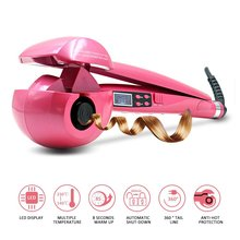 Automatic Curler with LED Steam Hair Curlers Perm Steamer Curl Rolloer Styler air Wand from curling iron