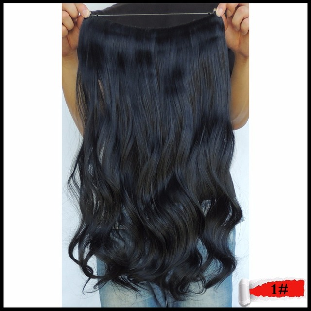 Synthetic Curly Hair 20inch 100g Flip In Secret Extension Mega Hairpiece Halo Style Fast Haar Apply Ticking Black Olive 1 Color On Aliexpress