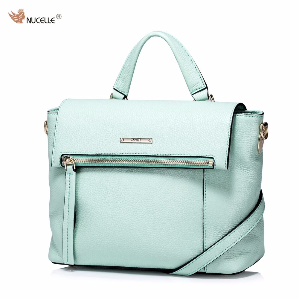 ФОТО NUCELLE New Brand Design Genuine Cow Leather Foldable Cover Women Lady Handbag Shoulder Crossbody Bag