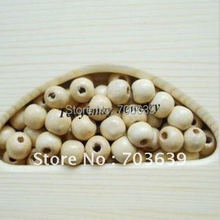 Fashion Wood Loose Beads 200pcs 14mm Wooden Beads For DIY Free Shipping