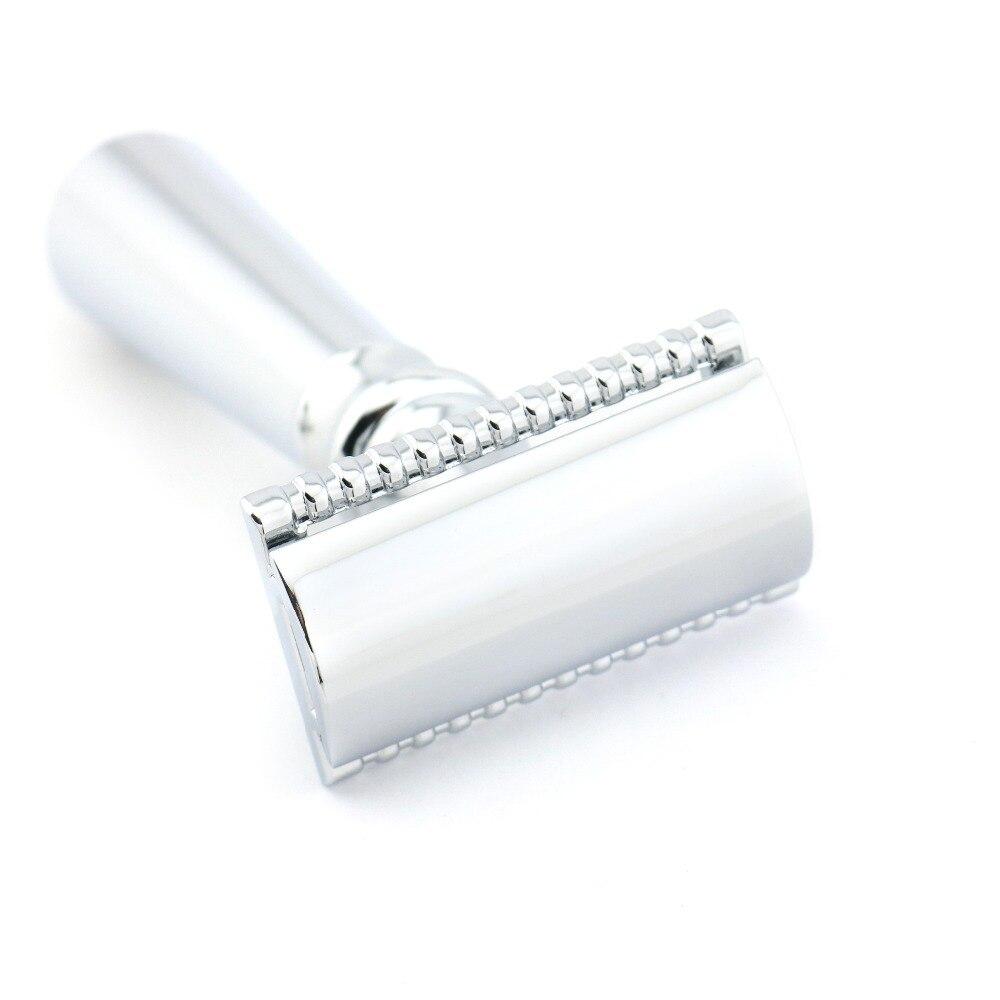 Borda dupla Lâmina De Segurança de Barbear Navalha de Barbear Manual Clássico de Prata Estilo 10.9 CENTÍMETROS Liga de Zinco Lyrebird H5 NOVO