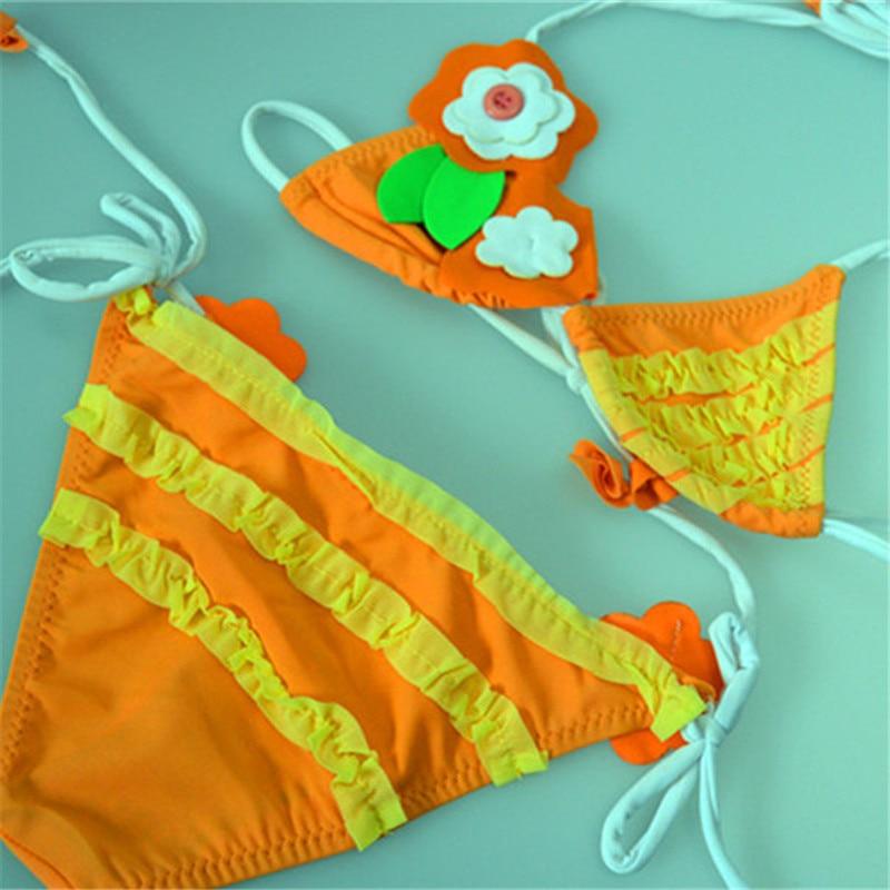 2016 girl bikini baby swimwear kids girls swim wear bikini ...