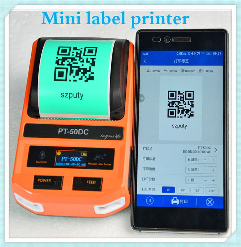 Label printer New Mini Printers Phone WIFI Remote Wireless Connection Printers Thermal Printers for F-type, T-type, flat cable mini thermal label printer label printing machine with usb bluetooth for network cabel tail cable flat cable check cable etc
