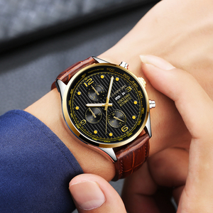 Image 5 - GUANQIN Luxury Brand Classic Men Automatic Date Luminous Clock Mens Fashion Casual Leather Strap Waterproof Mechanical Watches