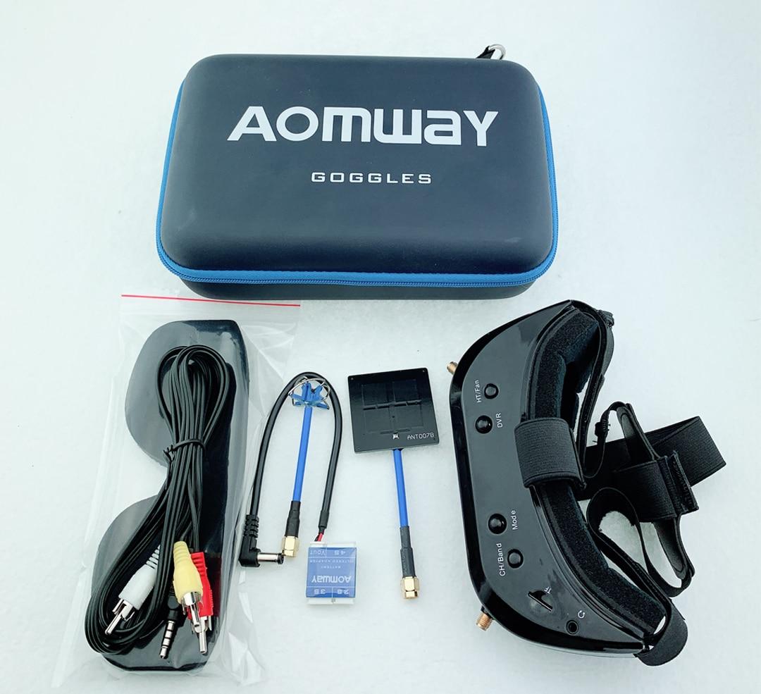 Lunettes de commande d'origine Aomway V2 V1 2D 3D 48CH 5.8G 64Ch 1080P 800*600 SVGA FPV Support de casque vidéo HDMI DVR FOV 45 pour RC