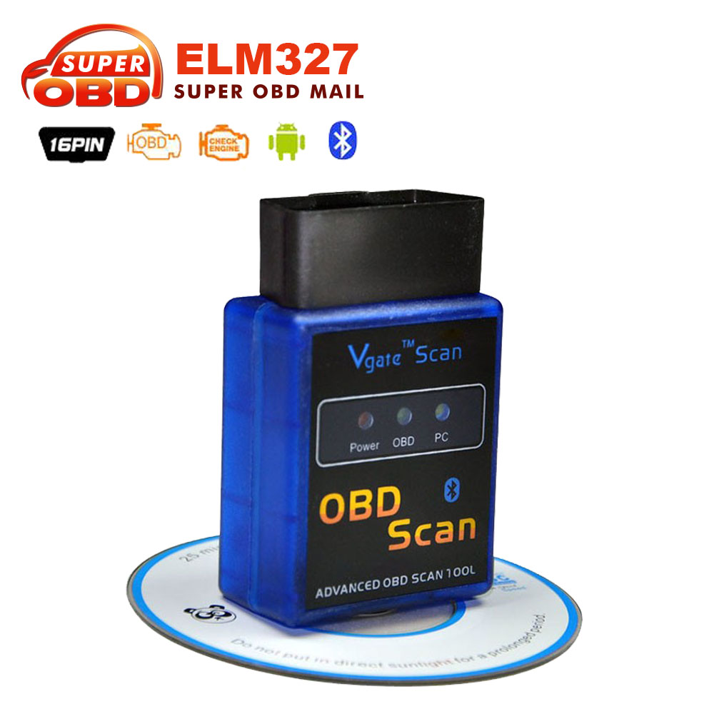 Prix pour 2017 OBD2 super Mini elm 327 v 1.5 bluetooth obd 2 Vgate ELM327 V1.5 OBD2 protocoles Auto diagnostic-outil