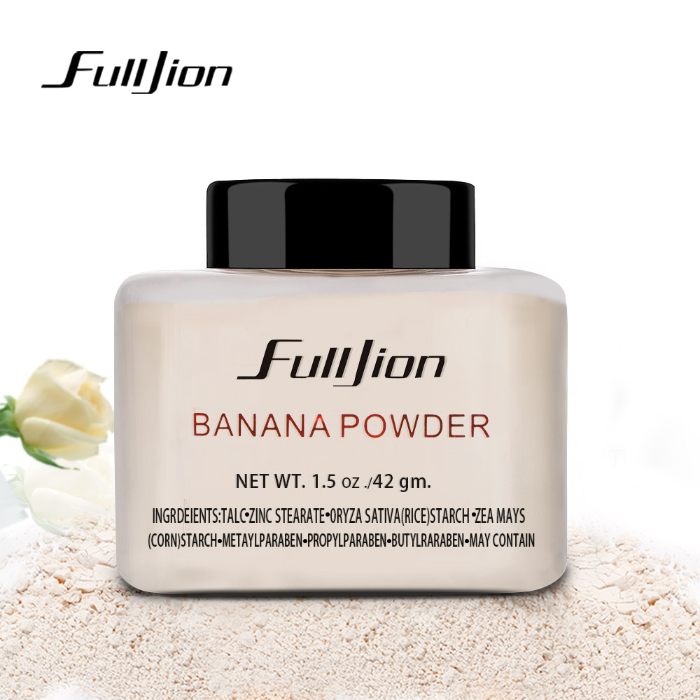 Fulljion 1pc Women Makeup Lös Banan Pulver 1,5 oz Flaska Äkta Luxury För Face Foundation Skönhet Makeup Highlighter