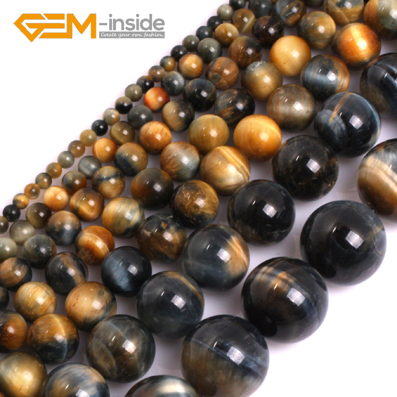 AAA Grade Natural Round Dream Lace Gold Blue Tiger Eye Loose <font><b>Beads</b></font> For Jewelry Making <font><b>Beads</b></font> DIY 15