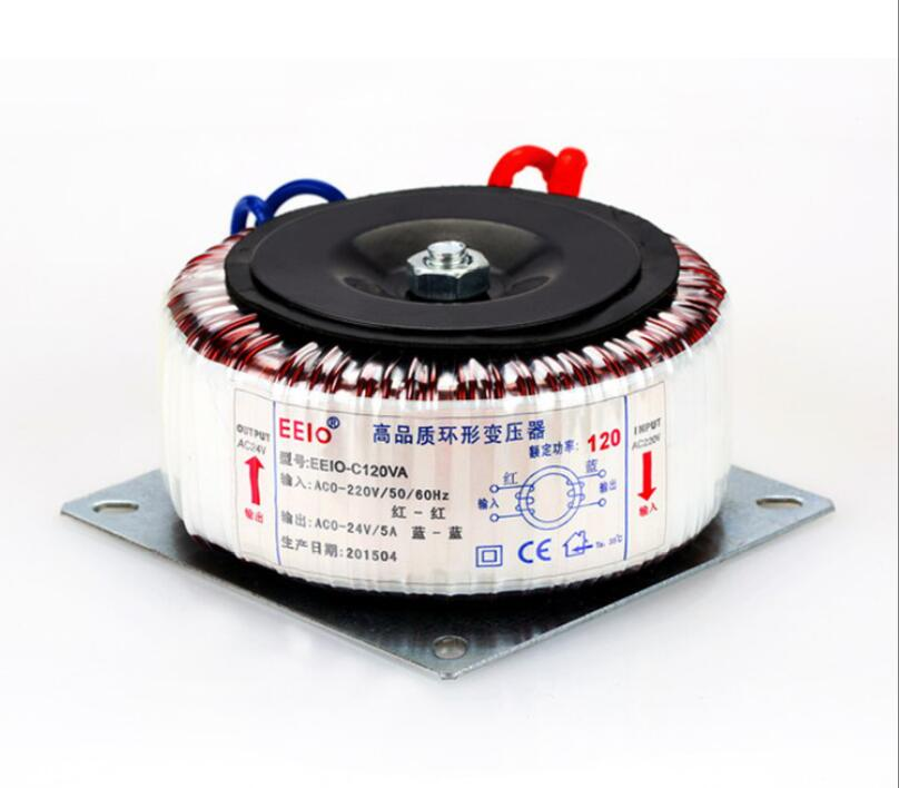 где купить 24V tranformer 120VA oroidal transformer copper custom transformer 220V input 24V 5A Security Monitoring power transformer дешево