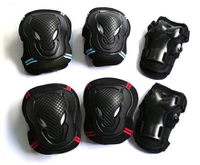 NEW Hot 6pcs/set Skating Protective Gear Set Elbow pads Bicycle Skateboard Ice Skating Roller Knee Protector For Adult Kids Gift