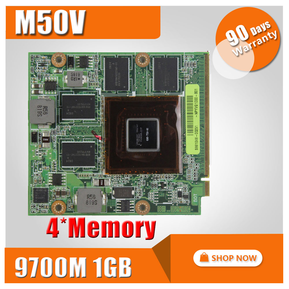 Video Card/Graphic for ASUS M50 M50V G50V G50VT G71V60-NPYVG1000 G50V 08G2015GV20I 08G2015GV20Q 9700M GT G96-750-A1 DDR3 512MB original used hd3650 512mb 216 0683013 graphic card for acer 4710 4920 4720 display video card gpu replacement tested working