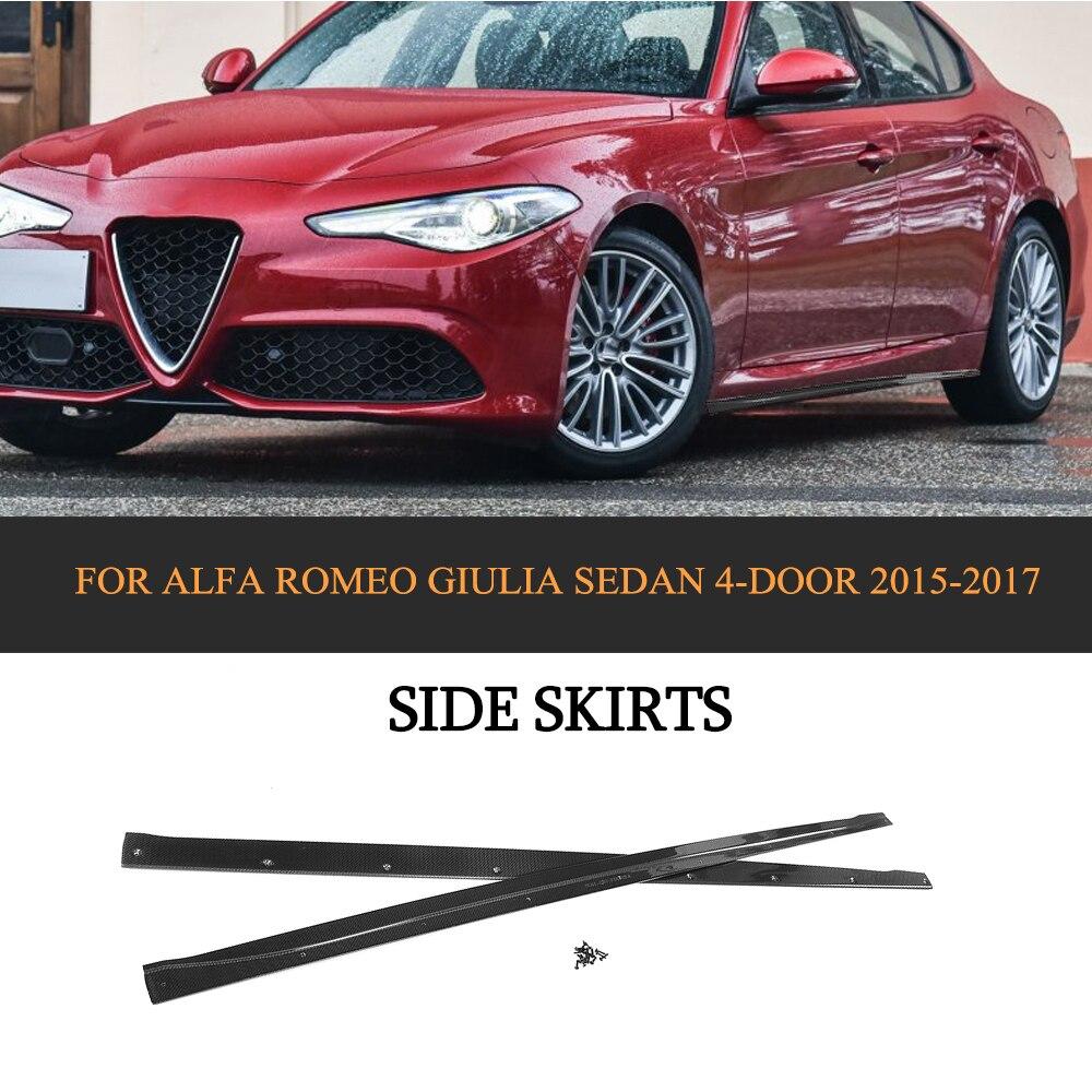 Carbon Fiber Auto Body Aprons Side Skirts For Alfa Romeo
