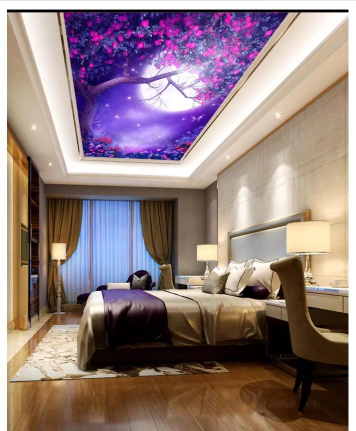 Custom Photo Wallpaper 3d Ceiling Murals Wallpaper Forest