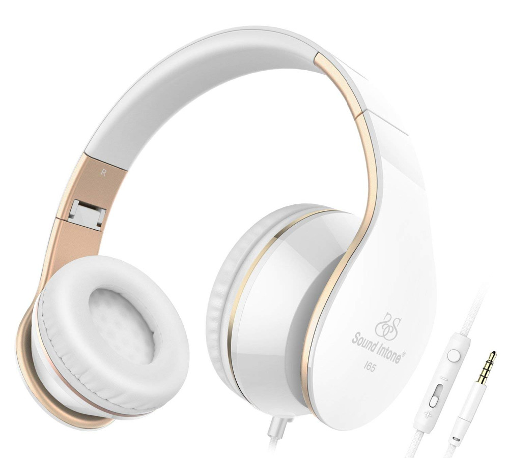 I65 Headphones with Microphone Deep Bass Wired Headphone Foldable Headset Support Volume Control For iphone Android