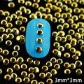 Nrg17 1000 pcs/lot 3 мм золото круг гвоздь шпильки ювелирные изделия 3D металл плавающий подвески-талисманы своими руками украшение гвоздь питания