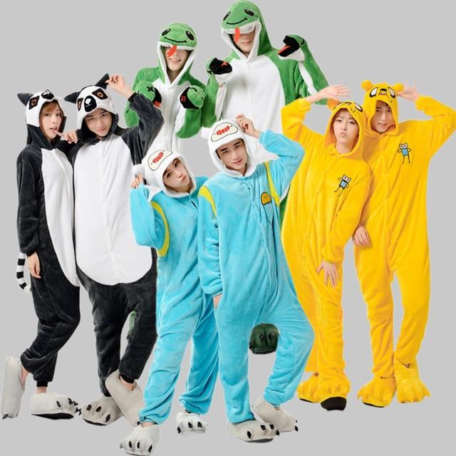 Anime Adventure Time Onesies Costume Jack Dog FINN Cosplay Pajamas Pyjama  Warm Yellow Flannel Adult Unisex Halloween Costume c5b4e259b