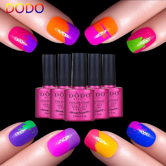 6pcs Shining Colorful Gel Nails Harmonious Glaze Varnish 1pcs Top Coat Seal Glue