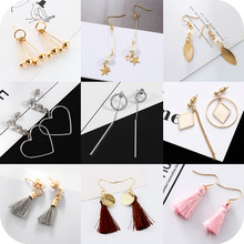 New 2018 Fashion Triangle Geometry Circle Jewelry Dangle Earrings tassel sexy love big circle ring earrings temperament female(China)