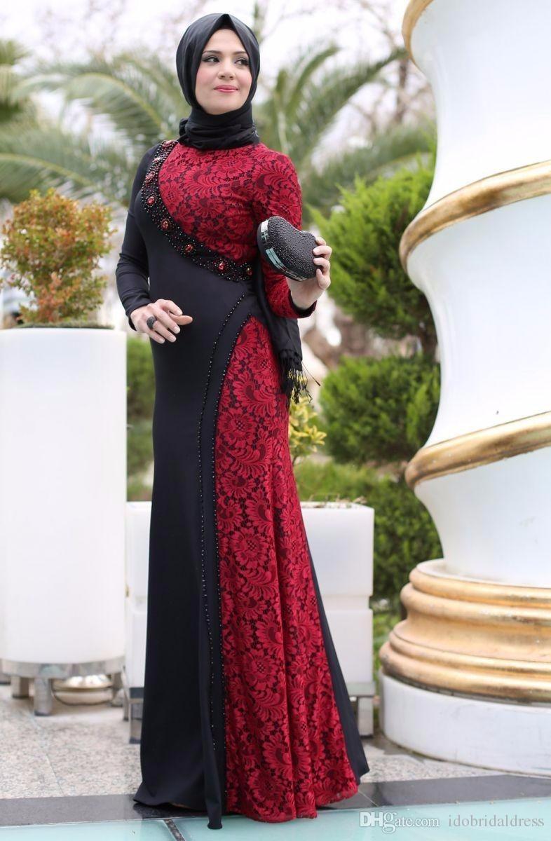 Popular Long Red Evening Dress High Neck-Buy Cheap Long Red ...