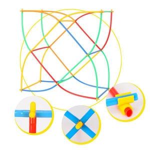 Image 2 - 500 Pcs พลาสติกเด็ก 4D Straw Building Blocks Joint ตลก Development ของเล่น