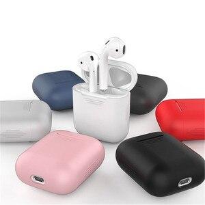 Image 1 - Caixas para fones de ouvido, estojo para fones de ouvido airpods da apple fone de ouvido tomada de poeira