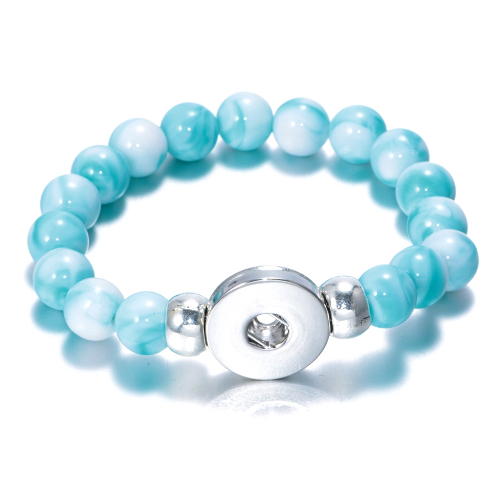 Obliging 1pc/lot 10 Color Charms Beaded Snap Bracelet & Bangle Acrylic Stone 18mm Snap Button Jewelry For Snap Jewelry Sz0177g Consumers First Jewelry & Accessories