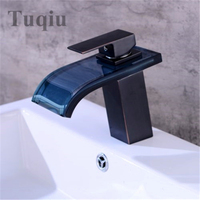 Basin Faucet LED Faucet Black Oil Brushed Single Handle Hot and Cold Brass Sink Faucet Chrome Crane Faucet